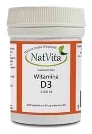 NatVita - Witamina D3 (z lanoliny) 2000 IU 120 tab