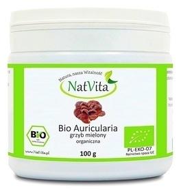 NatVita - Bio Auricularia Uszak Bzowy Grzyb 100g