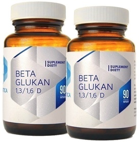 Hepatica Beta Glukan 85% 1,3/1,6 D -180 Kapsułek
