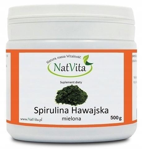 NatVita Spirulina Hawajska PACIFICA 500g mielona (1)