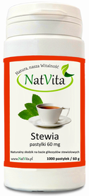 NatVita Stewia pastylki 60mg / 1000 pastylek (60g)