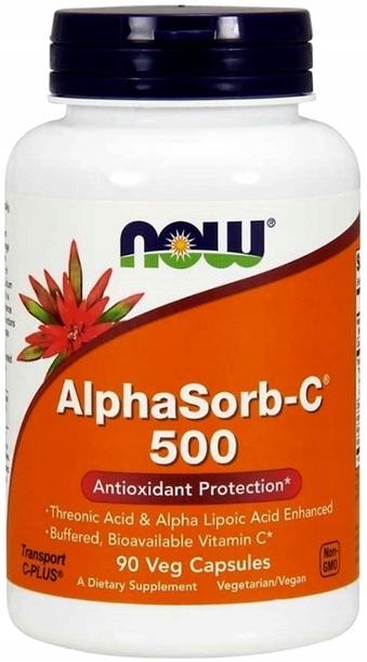 NOW FOODS AlphaSorb-C 500 witamina C PRZYSWAJALNA (1)