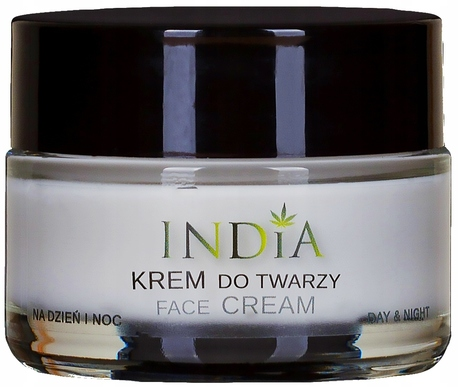 INDIA KREM DO TWARZY dzień noc z olejem z konopi. (1)