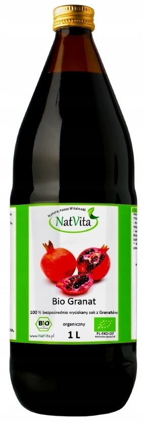 NatVita GRANAT Bio Sok 100% wyciskany 1000ml